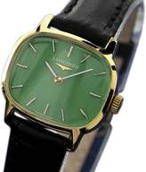 Longines Gold Plated Stainless Steel / Leather Vintage 24mm Womens Watch