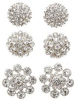 Charlotte Russe Embellished Oversize Stud Earrings - 3 Pack
