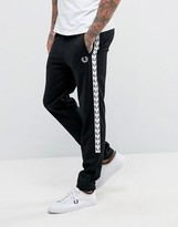 Fred Perry Sports Authentic Slim Fit Taped Track Pant Black