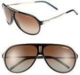 Carrera Men's Eyewear 'Hot' 64Mm Sunglasses - Brown/ Blue