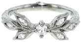 Cathy Waterman Diamond Marquise Leaf Ring - Platinum