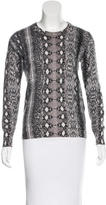 Equipment Cashmere Snakeskin Print Sweater