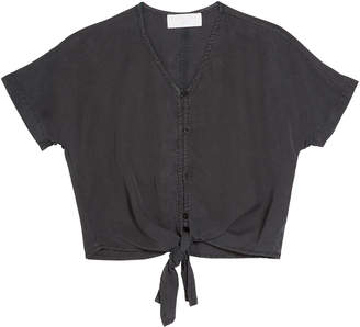 Bella Dahl Kimono Sleeve Tie Front Shirt, Size 8-14