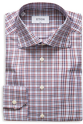 Eton Slim-Fit Check Cotton Dress Shirt