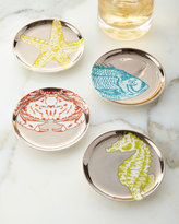 Jonathan Adler Aquatica Coasters, 4-Piece Set