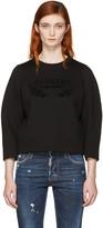 DSQUARED2 Black Felted Logo Sweatshirt
