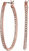 Lauren Ralph Lauren Rose Palais Large Oval Pave Hoop Earrings