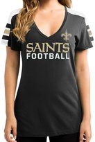 "Majestic New Orleans Saints Women's NFL ""Pride Playing"" V-neck Fashion Top"