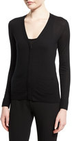 Tom Ford V-Neck Cashmere Cardigan, Black
