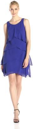 SL Fashions Women's Jewel Shoulder Tier Dress