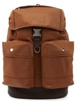 HUGO BOSS - Backpack In Italian Fabric With Faux Leather Trims - Khaki