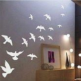 Yikai PVC Wall Stickers Peace Dove Bird Flock Romantic Bedroom Living Room Sofa TV Background Home Decor Wall Paper 58 x 30 cm
