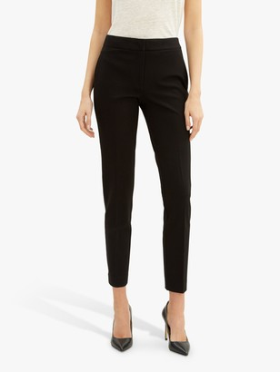 Jaeger Ponte Tailored Ankle Trousers, Black