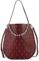 Alexander Wang Roxy Refined Pebbled Hobo Bag, Dark Red