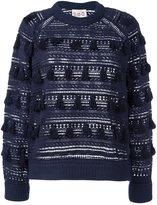 Sea embroidered tassel jumper