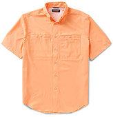 Roundtree & Yorke Cooler Comfort Short-Sleeve Solid Cape Back Sportshirt