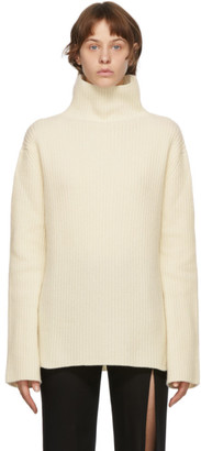 Ann Demeulemeester Off-White Virgin Wool Turtleneck