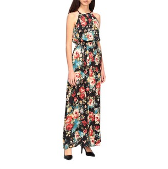 Kaos Long Dress With Floral Pattern
