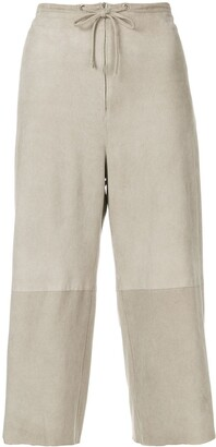 Salvatore Ferragamo Pre Owned drawstring cropped trousers