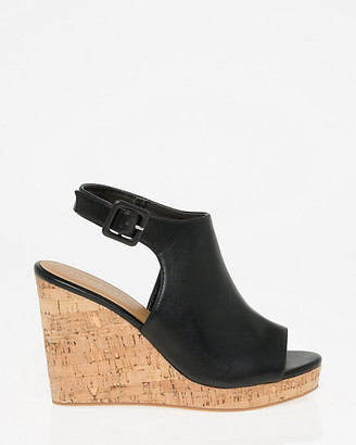 Le Château Faux Leather Slingback Wedge Sandal