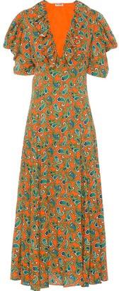 Miu Miu paisley printed jacquard dress