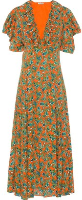 Miu Miu Paisley Printed Jacquard Dress