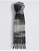 M&S Collection Brush Striped Scarf