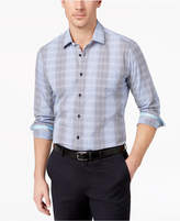 Ryan Seacrest Distinction Ryan Seacrest DistinctionTM Men's Slim-Fit Blue Grid Sport Shirt, Created for Macy's