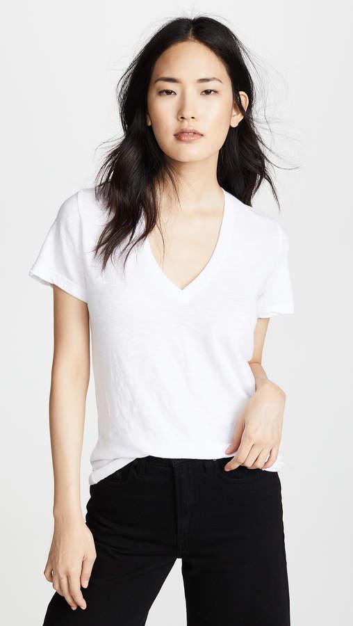 3b602660a Oversized V-neck T-shirt - ShopStyle