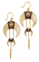Chan Luu Horn Earrings