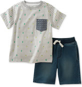 Kids Headquarters 2-Pc. Cotton Cactus-Print T-Shirt & Shorts Set, Baby Boys (0-24 Months)