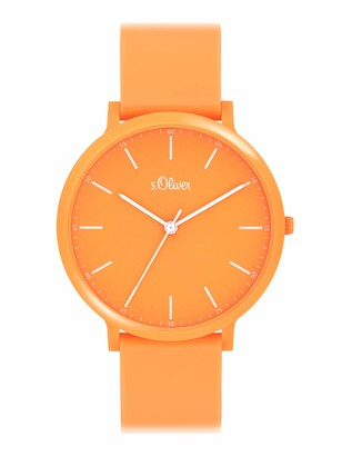 S'Oliver Unisex_Adult Analogue Quartz Watch with Silicone Strap SO-4065-PQ