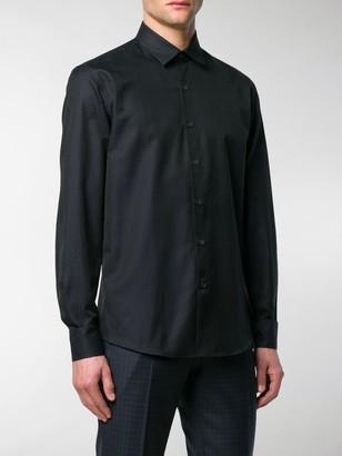 Salvatore Ferragamo Gancino micro print shirt