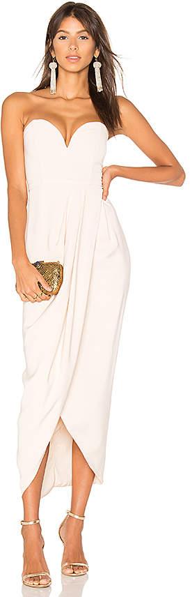 Shona Joy Bustier Draped Maxi Dress