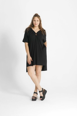 Shegul Eleni Keyhole Dress in Black Size X-Small
