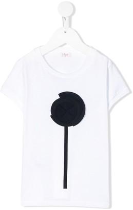 Il Gufo floral appliqué short-sleeved T-shirt