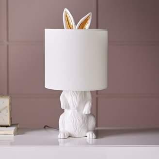 """west elm Ceramic Nature Rabbit Table Lamp (19"""")"""
