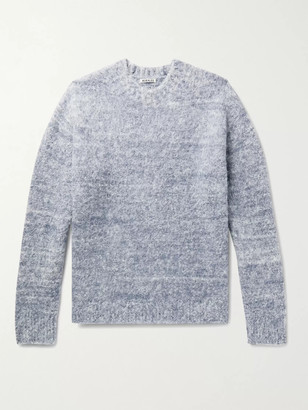 AURALEE Brushed Melange Wool-Blend Sweater