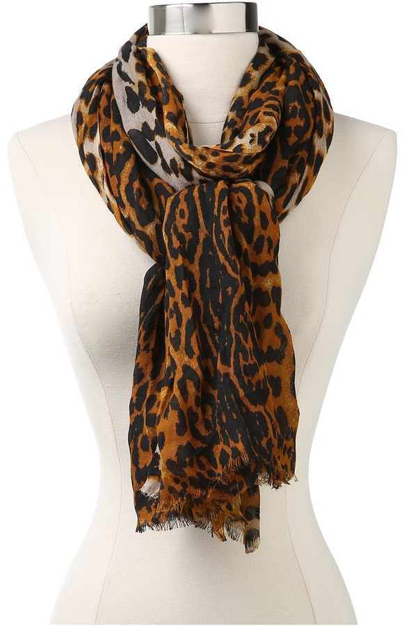 Juicy Couture Animal Print Scarf (Angel) - Accessories