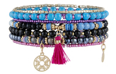 Accessorize Roller Disco Charm Stretch Bracelet Pack