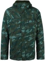 The North Face camouflage padded jacket