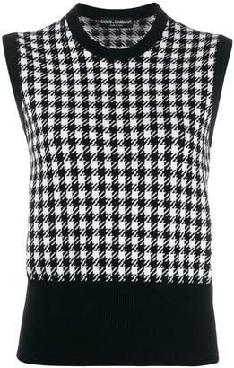 Dolce & Gabbana cashmere houndstooth top