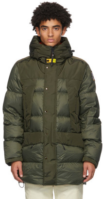 Parajumpers Green Down Shedir Coat