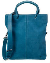 Halston Large Foldover Suede Tote