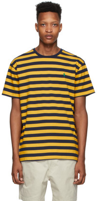 Polo Ralph Lauren Yellow and Navy Striped Classic Fit T-Shirt