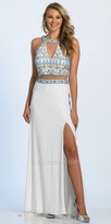 Dave and Johnny Beaded Keyhole Mock Two Piece Prom Dress