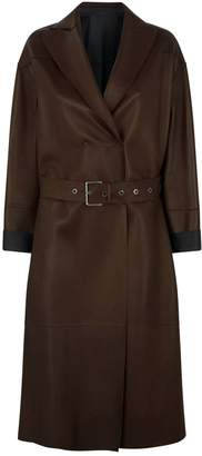 Brunello Cucinelli Leather Long Coat