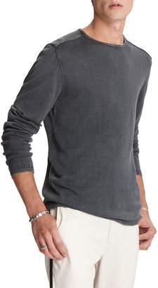 John Varvatos Men's Walter Acid-Washed Crewneck Sweater