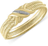 Effy D'Oro by Diamond Bangle Bracelet (1/6 ct. t.w.) in 14k Gold