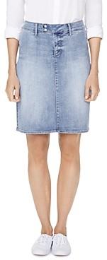 NYDJ Snap-Waist Denim Skirt